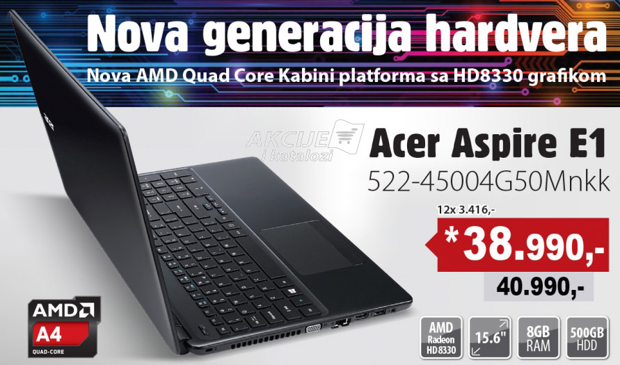 Laptop Aspire E1 522-45004G50Mnkk