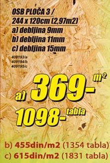 OSB ploča 3 9mm