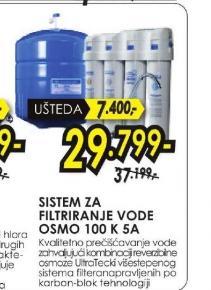 Sistem za filtriranje vode OSMO 100K 5A