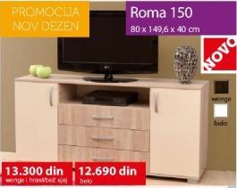 Komoda Roma 150 Belo