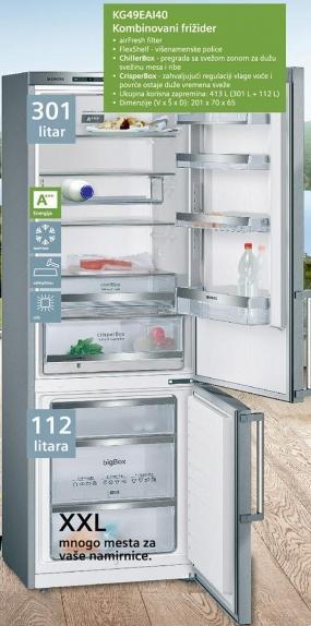 Kombinovani frižider Kg49eal40