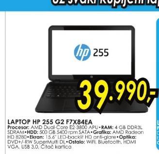 Laptop 255 G2 F7X84EA