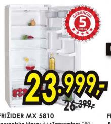 Frižider kombinovani MX 5810
