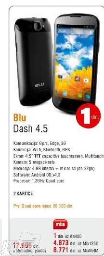 Mobilni telefon Blu, Dash 4.5