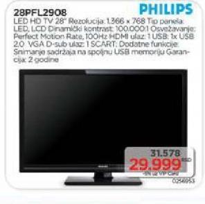 "Televizor LED 28"" 28PFL2908"
