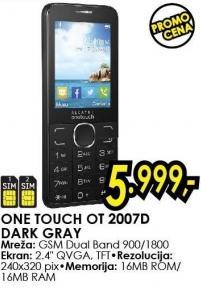 Mobilni telefon Onetouch 2007d Dark Gray