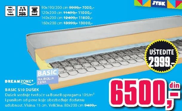 Dušek Basic S10 160x200