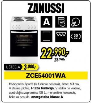 Električni šporet Zce54001wa