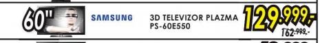 Televizor 3D plazma  Ps-60e550