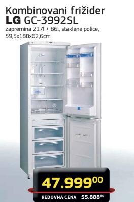 Kombinovani frižider GC-3992SL