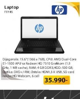 Notebook  2000-2d50SM E1-1500 4G 500GB F1Y45EA