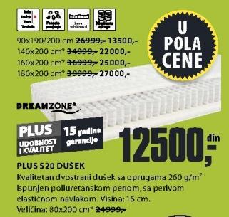 Dušek Plus S20 140x200cm