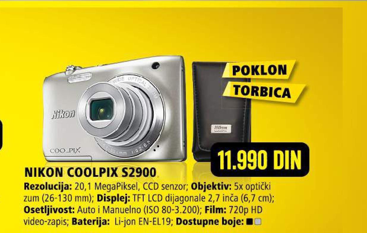 Digitalni fotoaparat Coolpix S2900