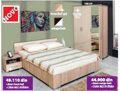 Spavaća soba Verona 3k wenge belo