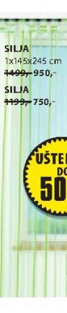 Zavesa Silja, 1x145x245cm