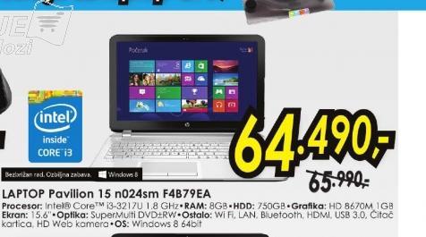 Laptop Pavilion 15-n024sm F4B79EA