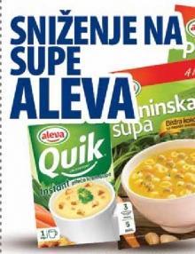 Sniženje na Aleva supe
