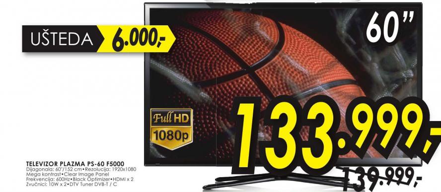 Televizor 3D Plazma PS-60F5000