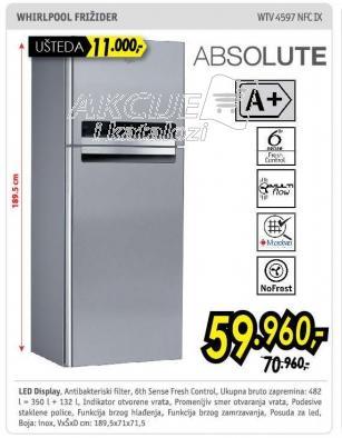 Kombinovani frižider Wtv4597nfcix