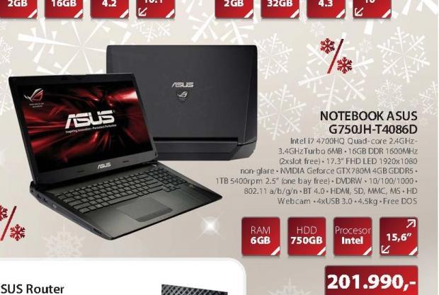 NOTEBOOK G750JH-T4086D