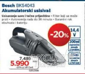 Akumulatorski Usisivač Bks4043