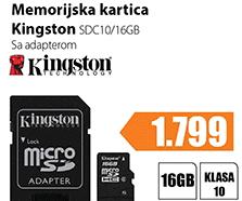 Memorija MicroSDHC SDC10/16GB