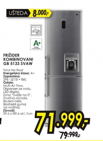 Frižider Kombinovani Gb-5133Svaw