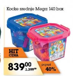 Kocke srednje Mega 140 box