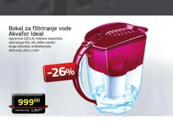 Bokal za filtriranje vode Ideal