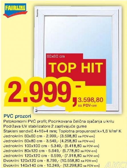 Pvc Prozori Dk 120x120cm