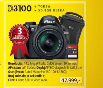 Digitalni Fotoaparat  D3100 + 18-55mm VR
