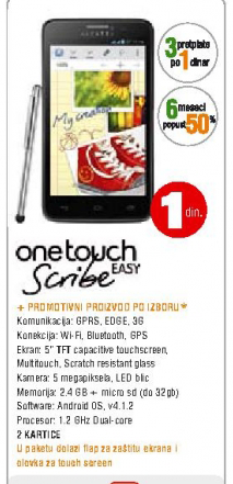 Mobilni telefon ONE TOUCH SCRIBE EASY