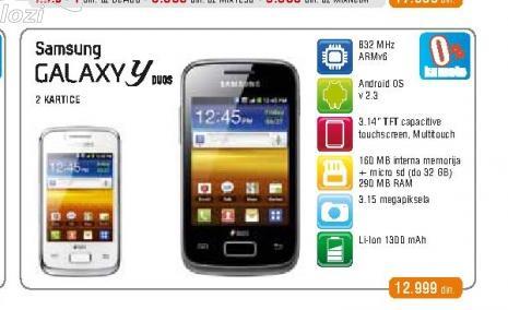Mobilni telefon S6102 Galaxy Y Dual SIM