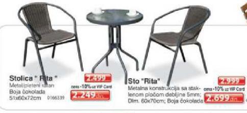 Baštenski sto Rita