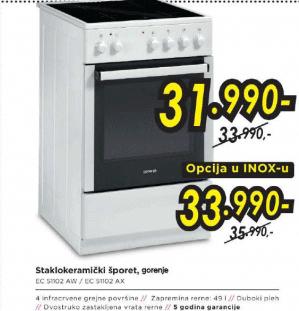 Šporet EC51102AX