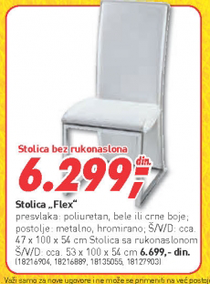Trpezarijska stolica Flex
