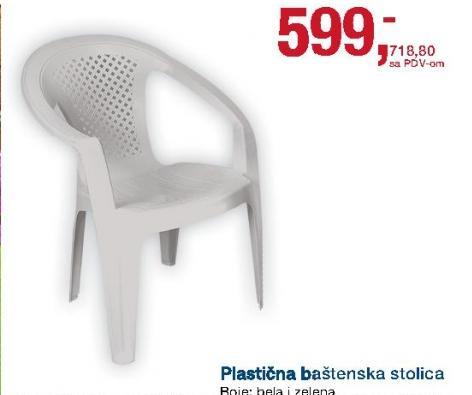 Stolica plastična
