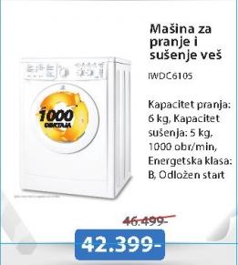 Mašina za pranje i sušenje veša IWDC6105