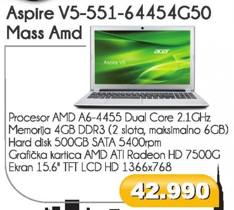 Laptop Aspire V5-551-64454G54G50