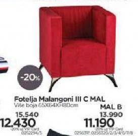 Fotelja Malangoni III C Mal B