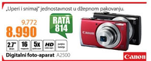 Digitalni foto-aparat  PowerShot A2500