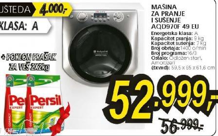 Mašina za pranje i sušenje veša AQD970F 49 EU