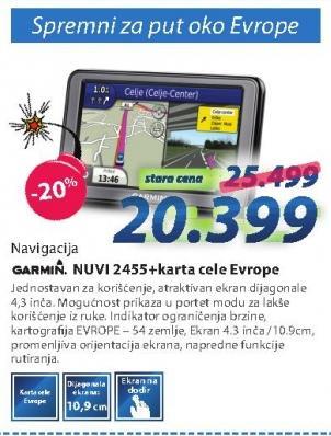Navigacija Nuvi 2455