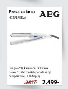 Presa Za Kosu Hc5585 Bela