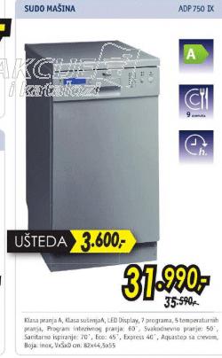 Sudomašina ADP 750 IX