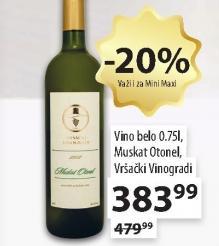 Belo vino Muskat otonel