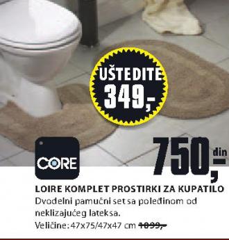 Komplet Loire prostirki za kupatilo