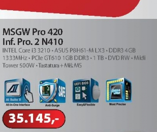 Računar Pro 420 Inf, Pro. 2 N410