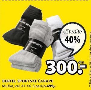 Čarape Bertel