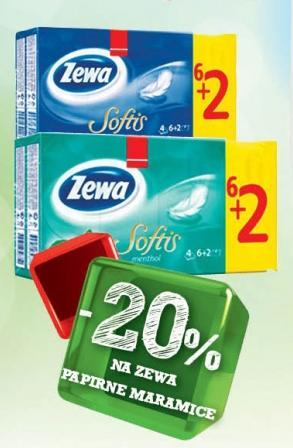 20% popusta na Zewa papirne maramice